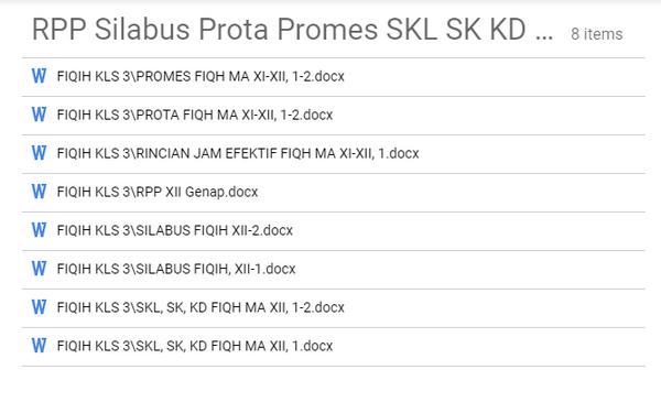 Prota Promes Silabus Rpp Fikih Kelas 11 12 Kurikulum 2013 Revisi 2020 Sch Paperplane