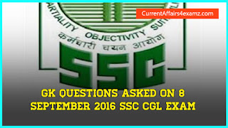 SSC Exam 8 September 2016