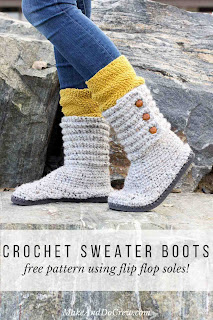 slipper boots free crochet pattern and videos