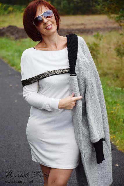 DRESSLILY -black shoes/ czarne buty i biała sukienka/ white dress.