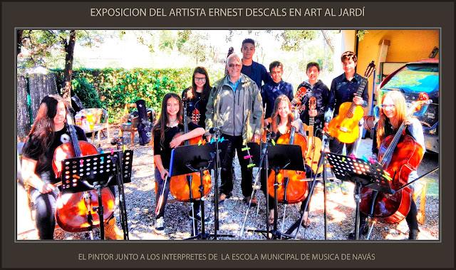 ART AL JARDÍ-EXPOSICIÓ-PINTURA-PINEDA DE BAGES-MANRESA-FOTOS-ARTISTA-PINTOR-ERNEST DESCALS-ESCOLA MUNICIPAL DE MÚSICA-NAVÁS-