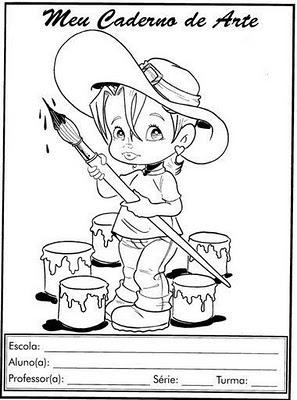 Capas Para Cadernos Infantis Escolares Trabalhos Projetos Etc