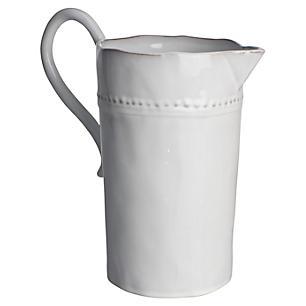 Rustic white stoneware pitcher #Frenchpitcher