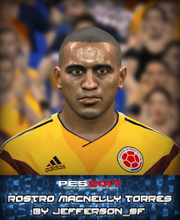 PES 2017 Faces Macnelly Torres by FaceEditor Jefferson_SF