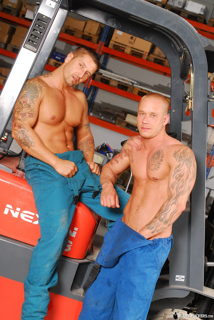 Gay Mechanics Inspecting Tools
