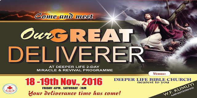 Deeper Christian Life Ministry November Revival Programme 2016