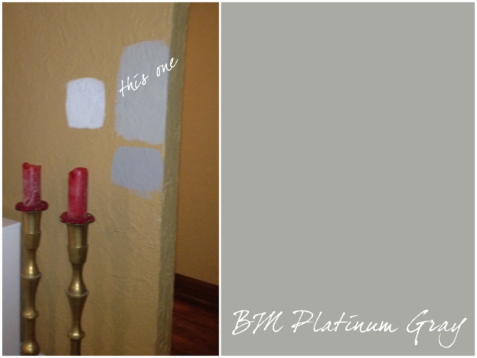 I Ended Up Liking Benjamin Moore S Platinum Gray It A Perfect Neutral Not Too Blue Like The Sample Below