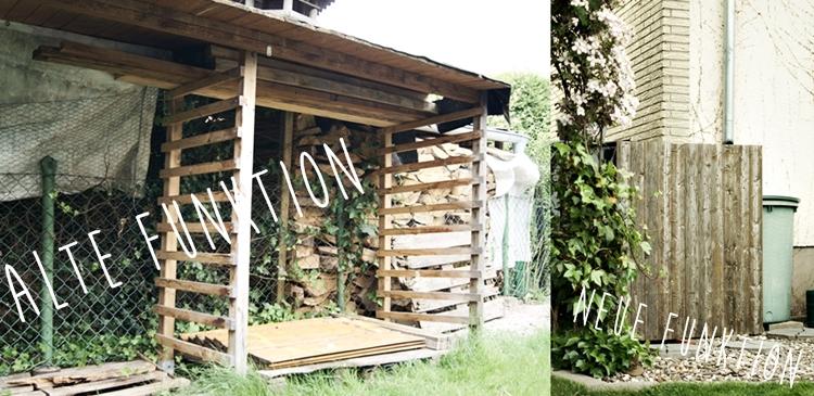 alter Holzstand wird zur Holzverkleidung { by it's me! }