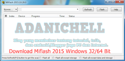Download Miflash 2015 Windows 32/64 Bit