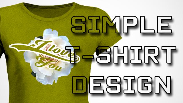 تصميم قميص بسيط جدا Simple T-shirt design