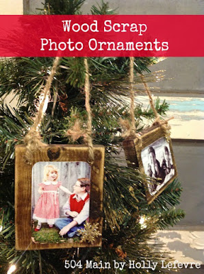 You only need simple supplies for these photo ornaments