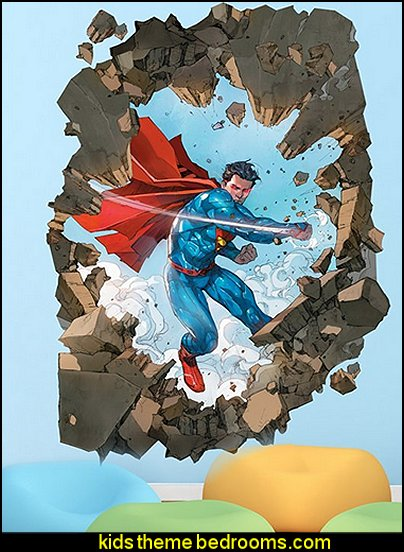superman bedroom decorating ideas - superman decor - superman wall murals - superman bedding