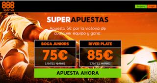 888sport superapuestas Boca vs River 9 diciembre
