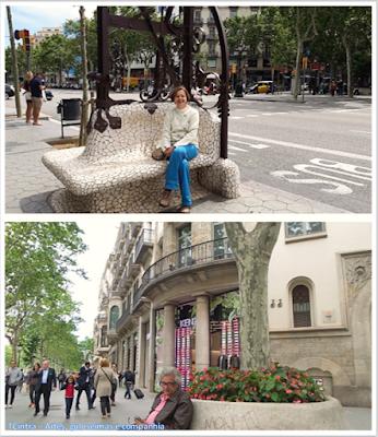 Barcelona; Conhecendo a Europa; sem guia; turismo na espanha; Passeig de Gràcia; Comércio exclusivo; bancadas de Pere Falqués.