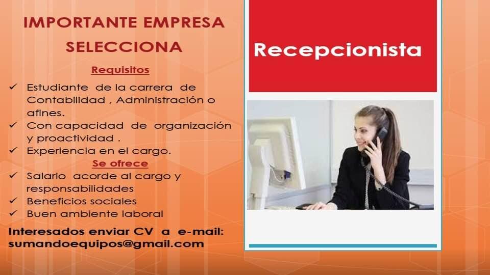 Lujo Responsabilidades De Recepcionista Reanudar Foto - Colección De ...