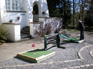 Emily Gottfried playing Crazy Golf at Brockhole in the Lake District