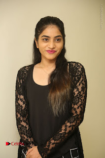 Actress Punarnavi Bhupalam Stills in Black Dress at Pittagoda Press Meet  0018.JPG