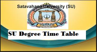 Satavahana University degree time table 2021 pdf, SU Results