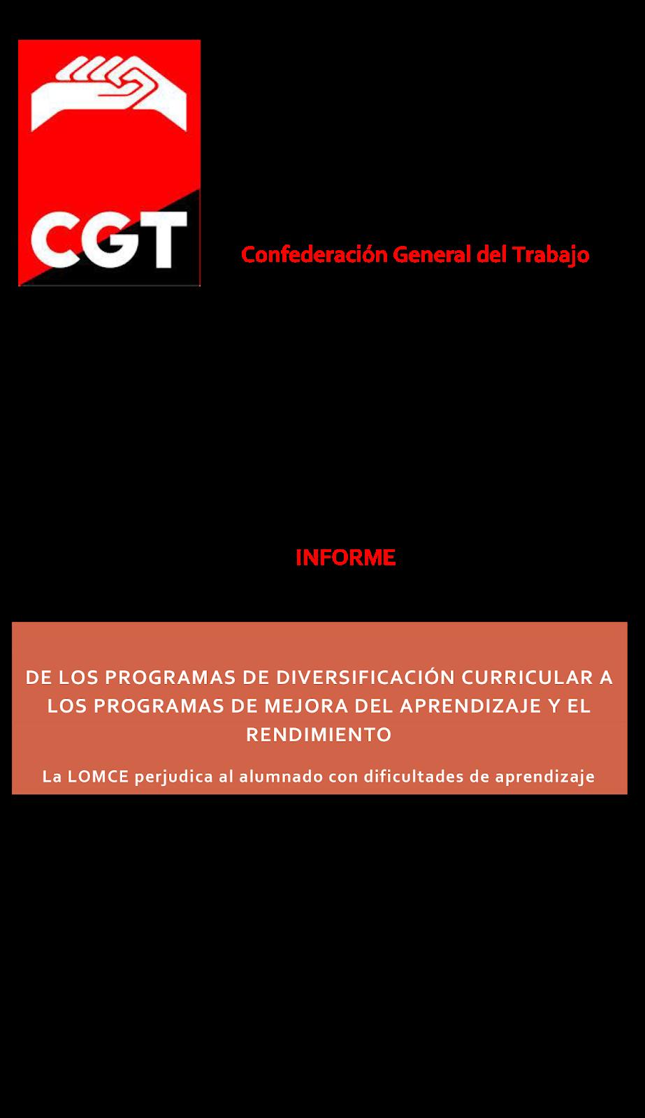 MareaVerde: Informe DE LOS PROGRAMAS DE DIVERSIFICACIÓN CURRICULAR A ...