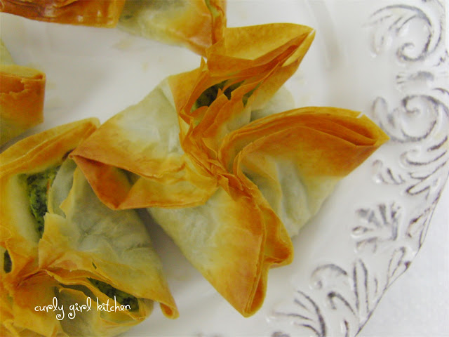 Feta Spinach Phyllo Twists