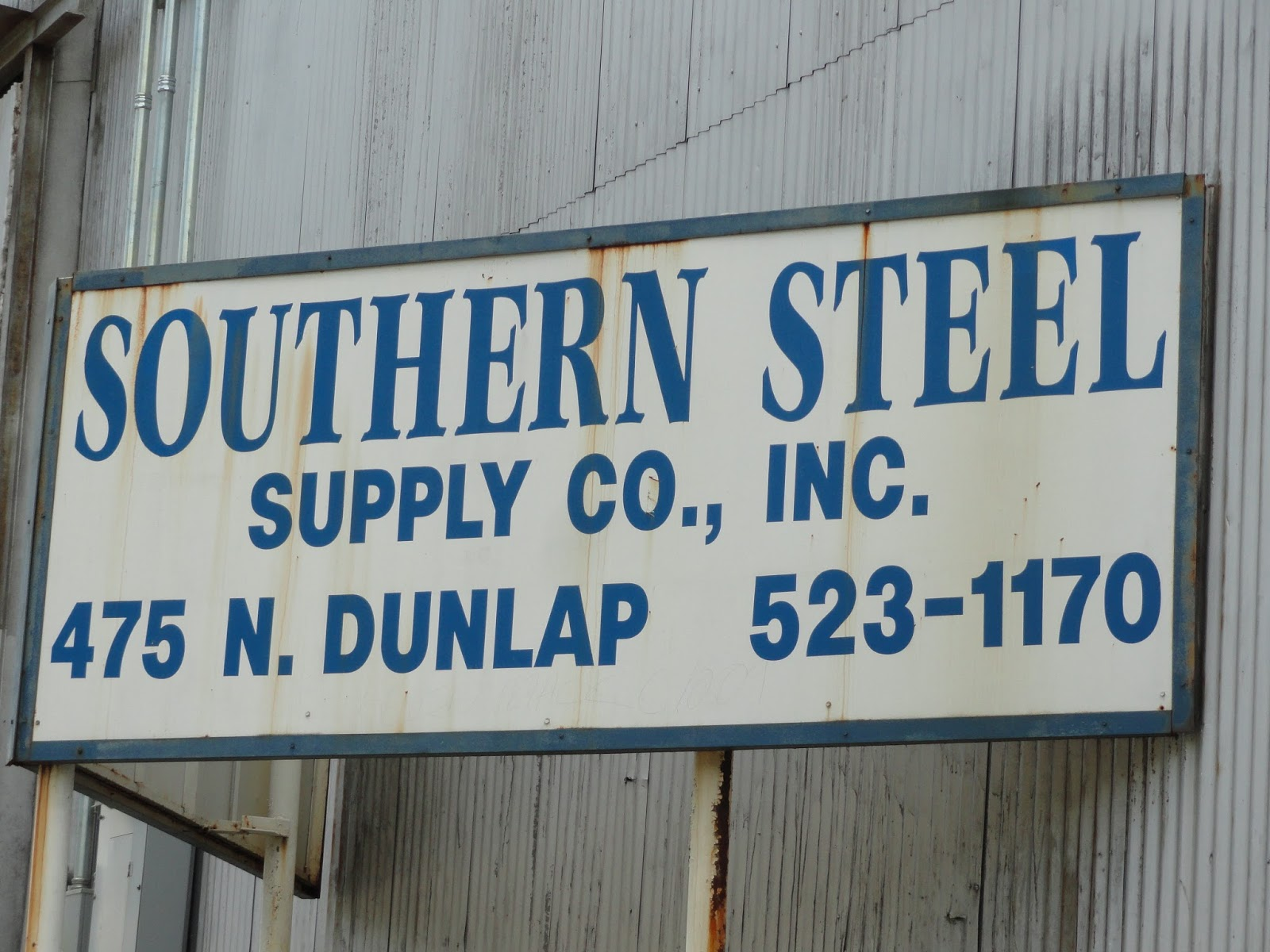 southern steel has long called n dunlap just south of north parkway home go to their website to see their actual logo which is actually designed in a
