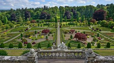 Jardines de algunos castillos de Escocia en fotos