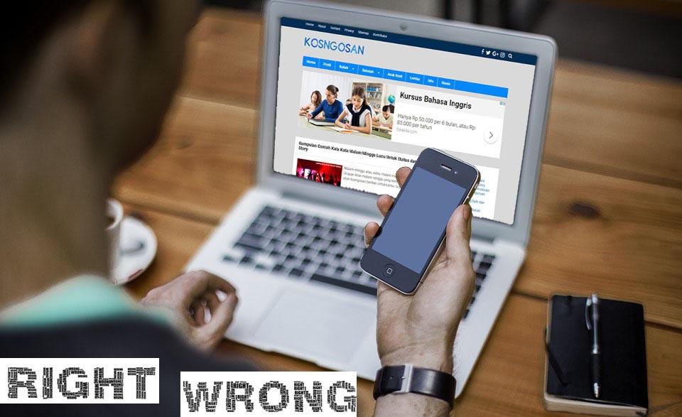 Korupsi Dan Etika Online Seorang Blogger