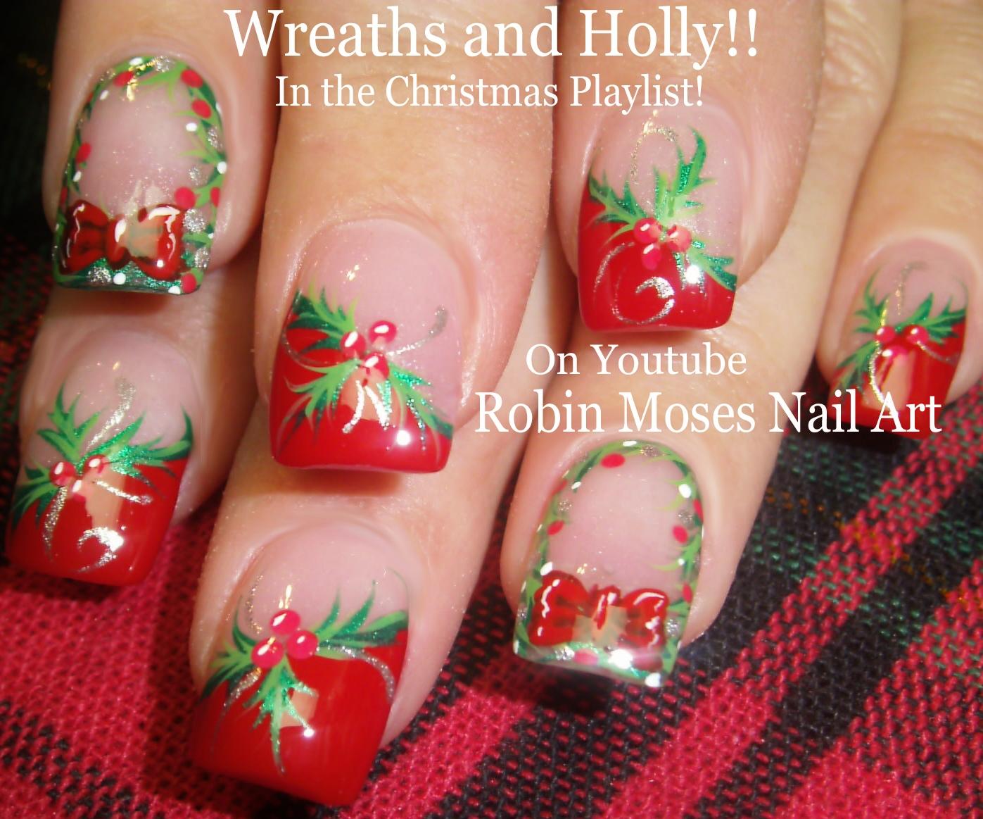 nail art by robin moses yes christmas candy cane stripe
