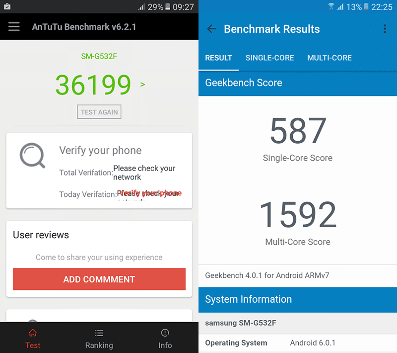 Good benchmarks scores