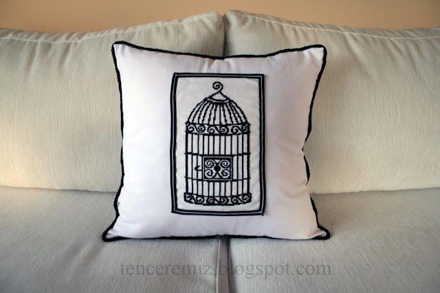 cross stitched pillow