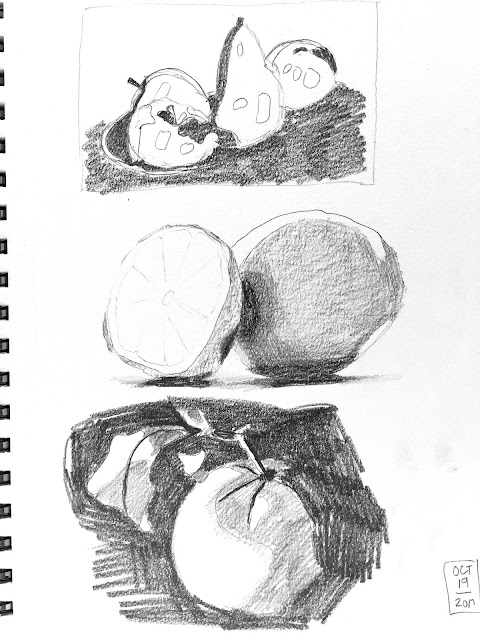 Daily Art 10-19-17 value and contrast - tonal composition studies