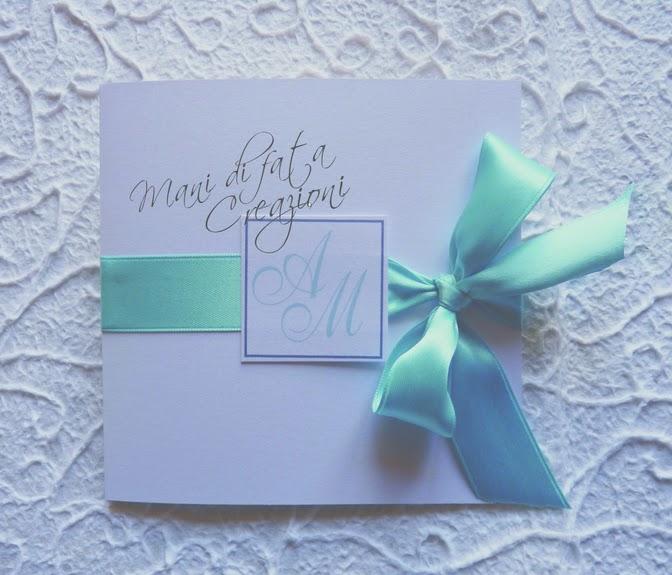 Partecipazioni Matrimonio Tiffany On Line.Mani Di Fata Creazioni Partecipazione Matrimonio Modello Tiffany