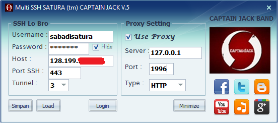 Download Source Code Multi SSH SATURA (tm) CAPTAIN JACK BAND V.5