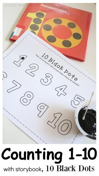 10 black dots q-tip painting