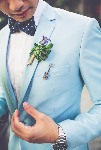 Ideas originales para decorar la solapa y el bolsillo del novio