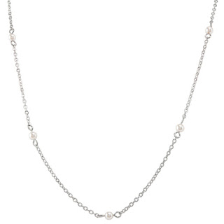 "Limited Edition 48"" Silver Pearl Station Chain available at StoriedCharms.com"
