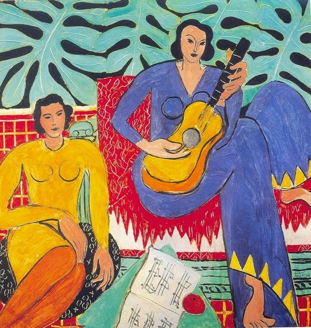 A Música - Pinturas de Matisse, Henri - (Fauvismo) Francês