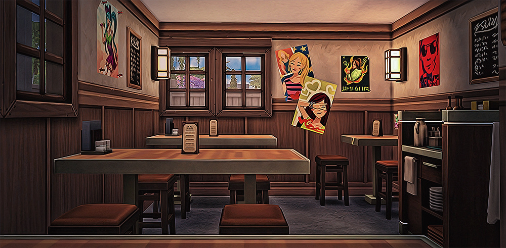 My Sims 4 Blog Japanese Restaurant No CC By Simsmissdd