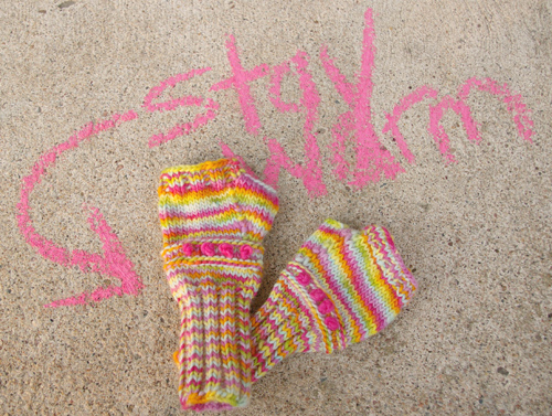 Tutorial For Warm Knitted Fingerless Gloves The Magic Onions