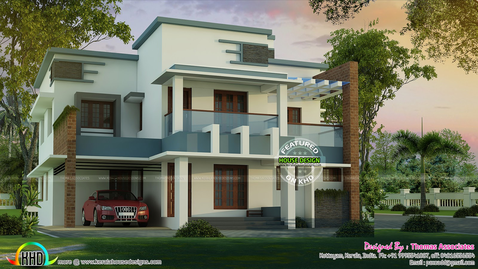 Spectacular contemporary home 2750 sq ft kerala home for Spectacular home designs