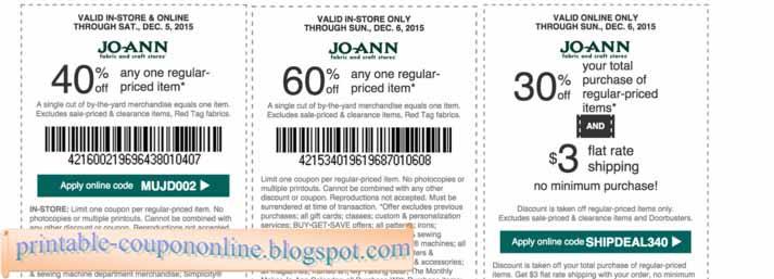 Joann 60 percent coupon