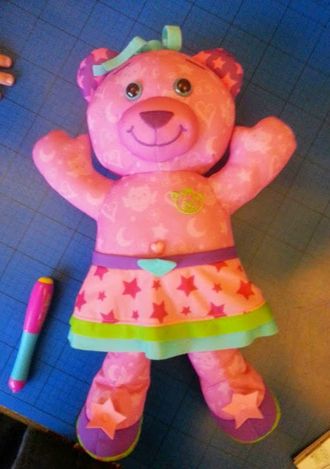 Starr the pink glow-in-the-dark Doodle Bear review