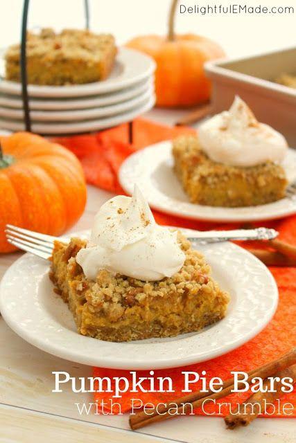Pumpkin Pie Spice Bar Recipe