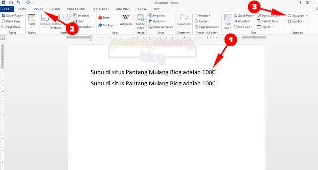 Cara Membuat Simbol Derajat di Microsoft Word