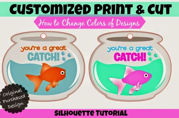Print and Cut File, change color, Silhouette tutorial