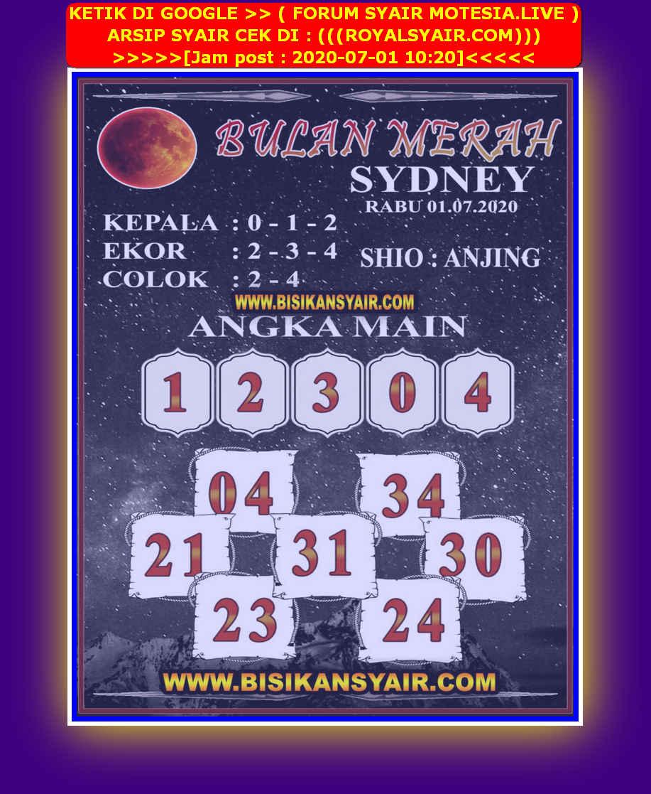 Kode syair Sydney Rabu 1 Juli 2020 139