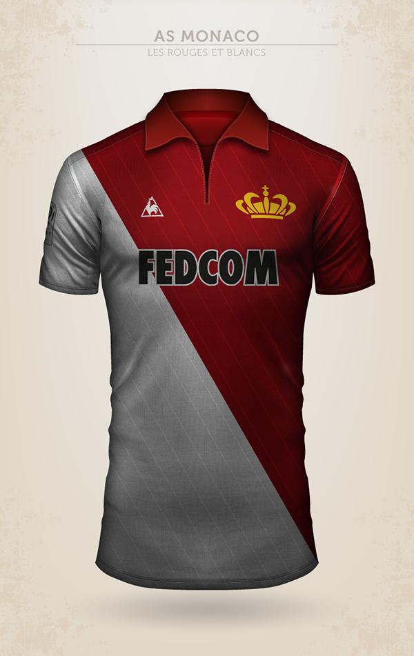 Projet de design du maillot de l'AS Monaco avec Le Coq Sportif