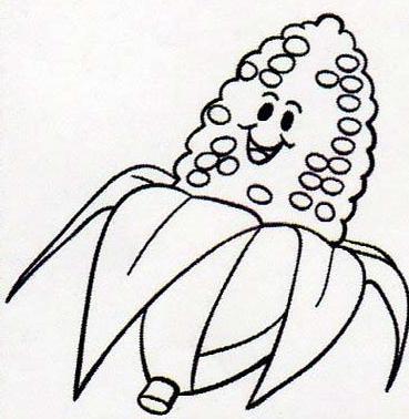 Bau Da Web Desenhos De Pipoca E Espigas De Milho Para Colorir