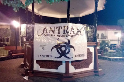 Narco Manta in Michoacan, points to an alliance between Los Antrax and Nueva Generacion