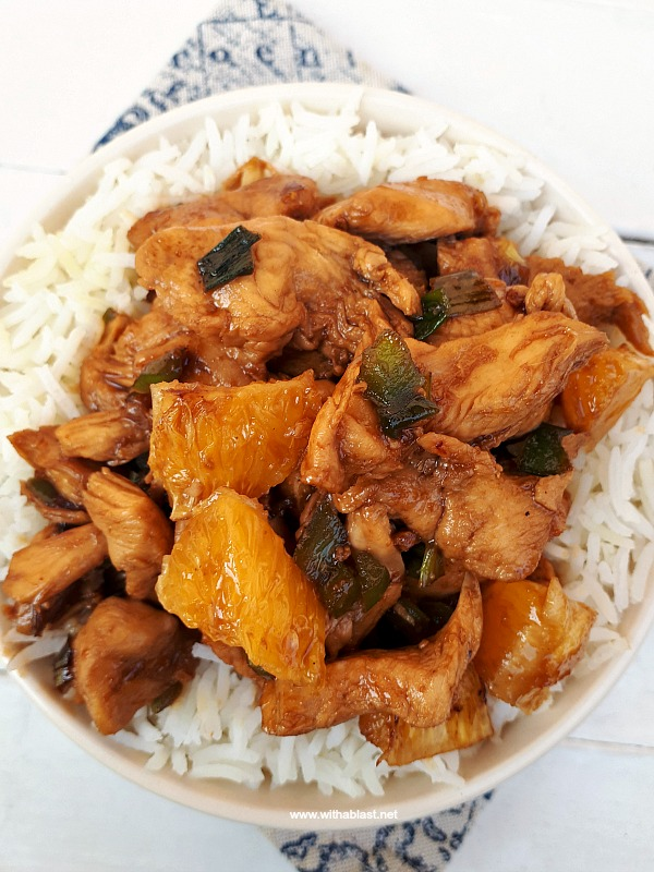 Must try 25 minute Chicken dinner recipe ! Bursting with citrus flavors ! #Chicken #EasyDinner